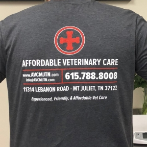 Affordable Veterinary Care | Shirt Back
