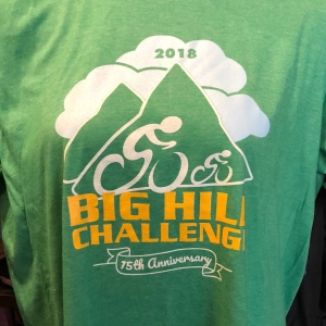 Big Hill Challenge | 2018 Shirt Front