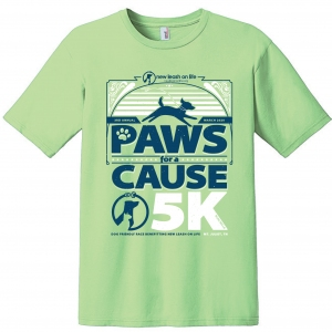 NLOL Paws For A Cause | 2020 Shirt Front