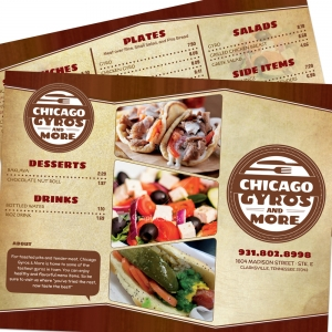 Chicago Gyros & More | Trifold Menu Layout