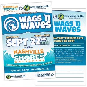 Postcard | New Leash On Life  Wags 'n Waves