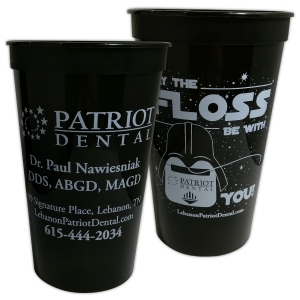 Stadium Cup | Patriot Dental  'May The Floss Be With You'