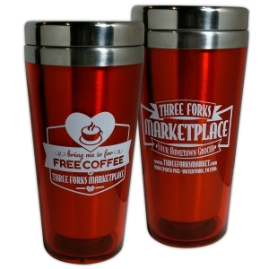 16oz Acrylic Tumbler | Three Forks Marketplace  Free Coffee Tumbler