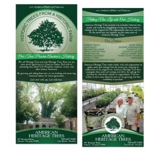 American Heritage Trees | Rack Card Design