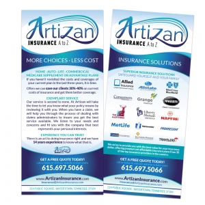 Artizan Insurance | Rack Card Design