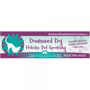 10&039; x 3&039; Banner | Downward Dog Holistic Pet Grooming