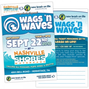 Postcard | New Leash On Life  Wags 'n Waves