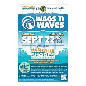 Poster | New Leash On Life  Wags 'n Waves